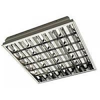 Растровый светильник ЛВО 4х18 с ЭПРА VS, Optima (Оптима)
