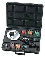 Набор для опрессовки шлангов автокондиционеров гидравлический,7размеров в кейсе MC-71500