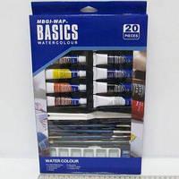 "Краски акварель ""Josef Otten"" 12цв. 12мл WBDW1220 + кисти, мастихин, карандаш, палитра, ластик (6949905205315)"
