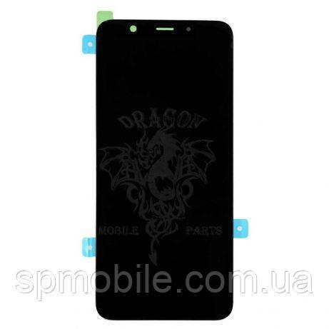 Дисплей Samsung A605 Galaxy A6+ з сенсором Чорний Black оригінал , GH97-21878A