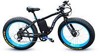 Электровелосипед LKS fatbike Синий 350, КОД: 213566