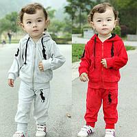 Спортивный костюм на мальчика красного цвета