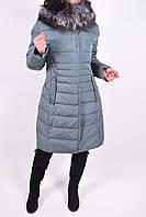 Пальто женское из плащевки зимнее с натуральной опушкой (color.4) QARLEVAR  6096- 5f3c20039070d