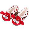 Тапочки балетки домашние женские комнатные теплые плюшевые Зайчики (красные)