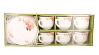 Сервиз чайный 12 пр. стеклокерамика Орхидея Red