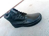 Мужские кожаные зимние ботинки на шнурке 40-47 размеры, фото 1