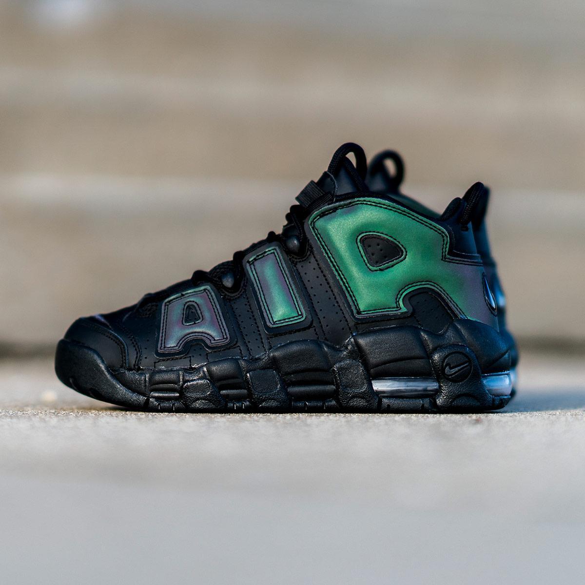 """Кроссовки Nike Air More Uptempo Iridescent Reflective """"Black"""" (Черные)"""