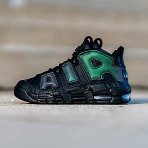 """Кроссовки Nike Air More Uptempo Iridescent Reflective """"Black"""" (Черные), фото 2"""