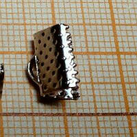 Фурнитура для бижутерии, зажимы на ленты