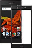 3D защитное стекло для Sony Xperia XZ F8331 / F8332 Чёрное (на весь экран)