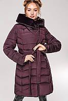 Женская зимняя куртка пуховик с мутоном Альмира 2, р-ры 42 - 56, ТМ NUI VERY, Украина, фото 1