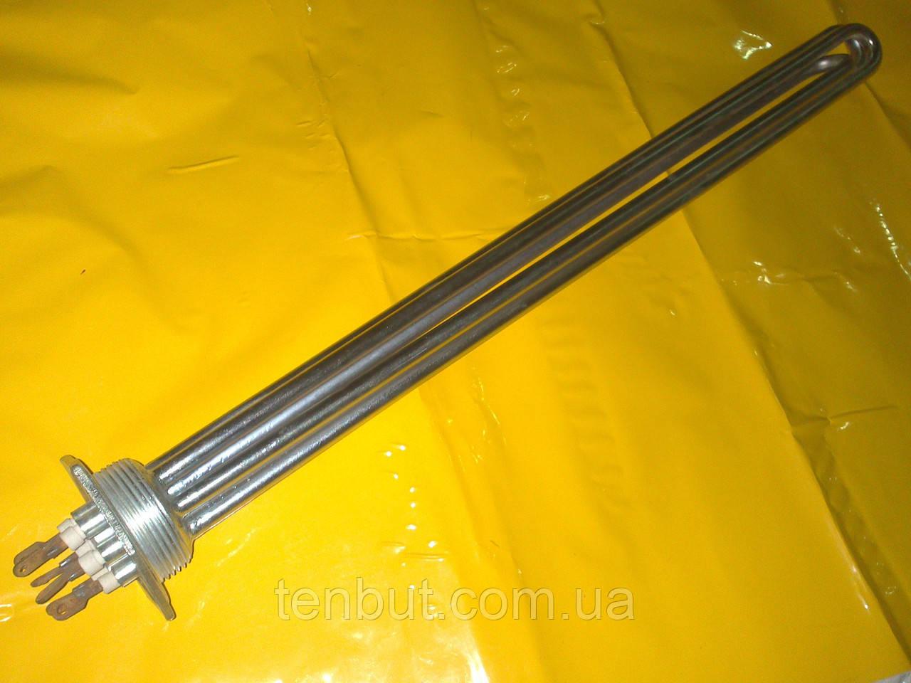 Блок тэн 6.0 кВт./1.5 дюйма/ L-400 мм. медный ( хромированный ) производство БМЗ Украина