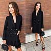 Платье-пиджак со складками