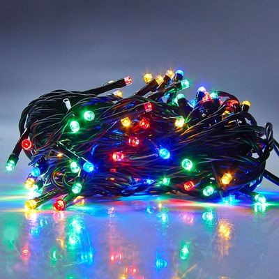 Гирлянда Xmas LED 100-90 M-7 Мультицветная RGB COLOR (черный провод)