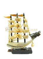 Корабль из рога 30 см