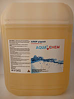 Хлор жидкий, AquaChem, 21л, 25кг
