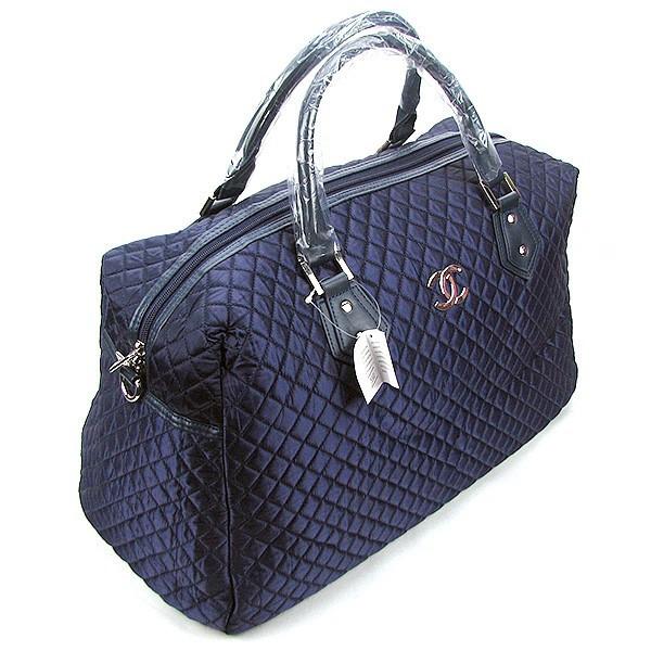 Сумка дорожная текстильная женская синяя 5340
