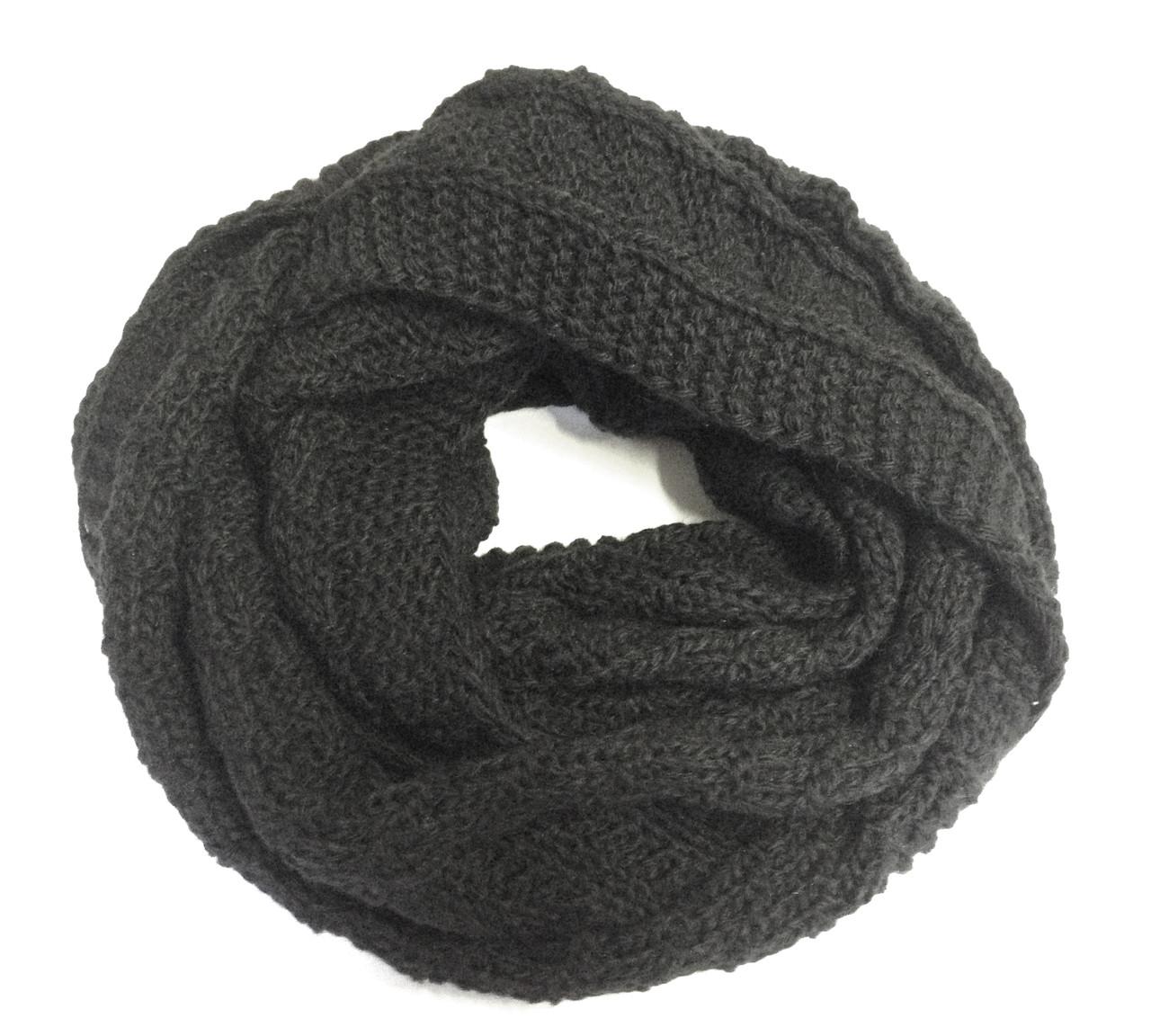 Шарф снуд (хомут), черный