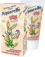 Зубна паста дитяча Ванільне морозиво 50мл Aquarelle Kids