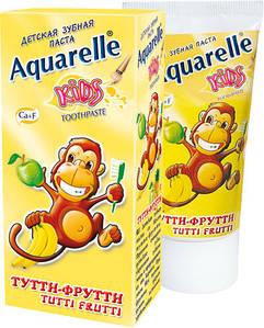 Зубна паста дитяча Тутті-фрутті 50мл Aquarelle Kids