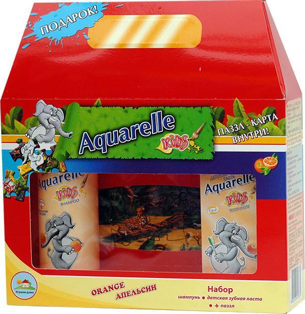 Подарунковий набір дитячий Апельсин + пазли Aquarelle kids