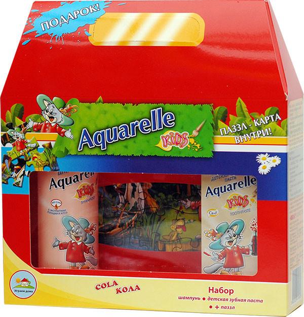 Подарунковий набір дитячий кола + пазли Aquarelle kids