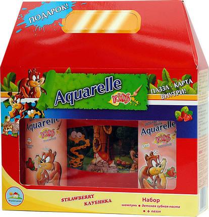Подарунковий набір дитячий полуниця + пазли Aquarelle kids , фото 2