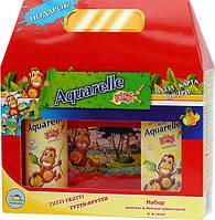 Подарунковий набір дитячий тутті-фрутті + пазли Aquarelle kids