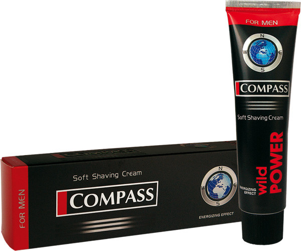 Крем для бритья  Compass black WILD POWER 65г /24