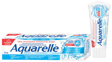 Зубна паста Aquarelle  Sensitive+Whitening 75мл