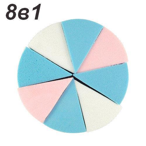 Спонж круглий для макіяжу 8в1 QS-222