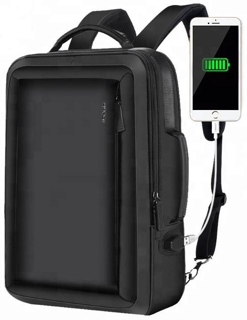 Рюкзак антивор Bopai 2в1 с USB портом и отделением для ноутбука, черный (751-006551)