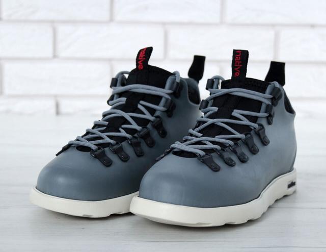 Ботинки Native Fitzsimmons серого цвета фото