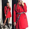 Платье-тренч модное стильное с поясом шелковой подкладке Smld2773