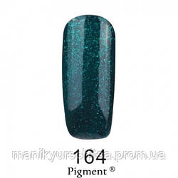 Гель-лак FOX № 164 (зеленовато-синий с блестками), 12мл