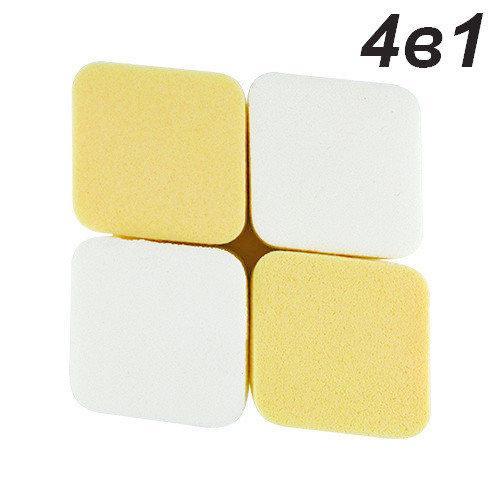 Спонж квадратный для макияжа 4в1 QS-241