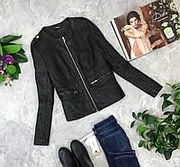 Стеганная куртка с эко-кожи  OV1845016 Quis