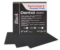 """Платки коффердама """"Dental Dam"""" черные (medium)"""