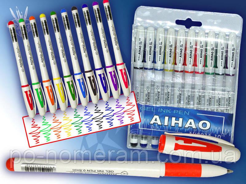 """Гелевая ручка """"AIHAO-801"""" 10 цветов"""