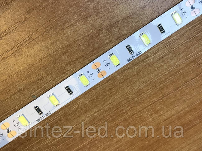 Светодиодная лента Premium SMD 5630/60 12V белая 6000-6500 IP20 Код.54869