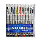 """Гелевая ручка """"AIHAO-801"""" 10 цветов, фото 2"""