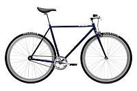 Велосипед Pure Fix Cycles November54 Синя рама 54cm з сріблястими колесами, фото 1