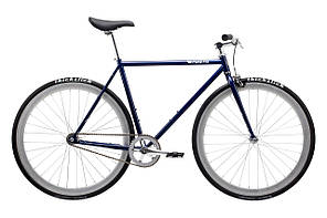 Велосипед Pure Fix Cycles November54 Синя рама 54cm з сріблястими колесами