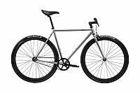 Велосипед Pure Fix Cycles Oscar54 Срібляста рама 54 см з матовими чорними колесами, фото 1