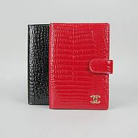 Обкладинка для паспорта, документів шкіряна жіноча червона 9013