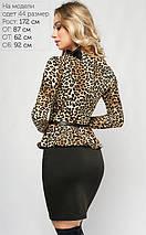 Женское облегающее леопардовое платье с баской (3002 lp), фото 3