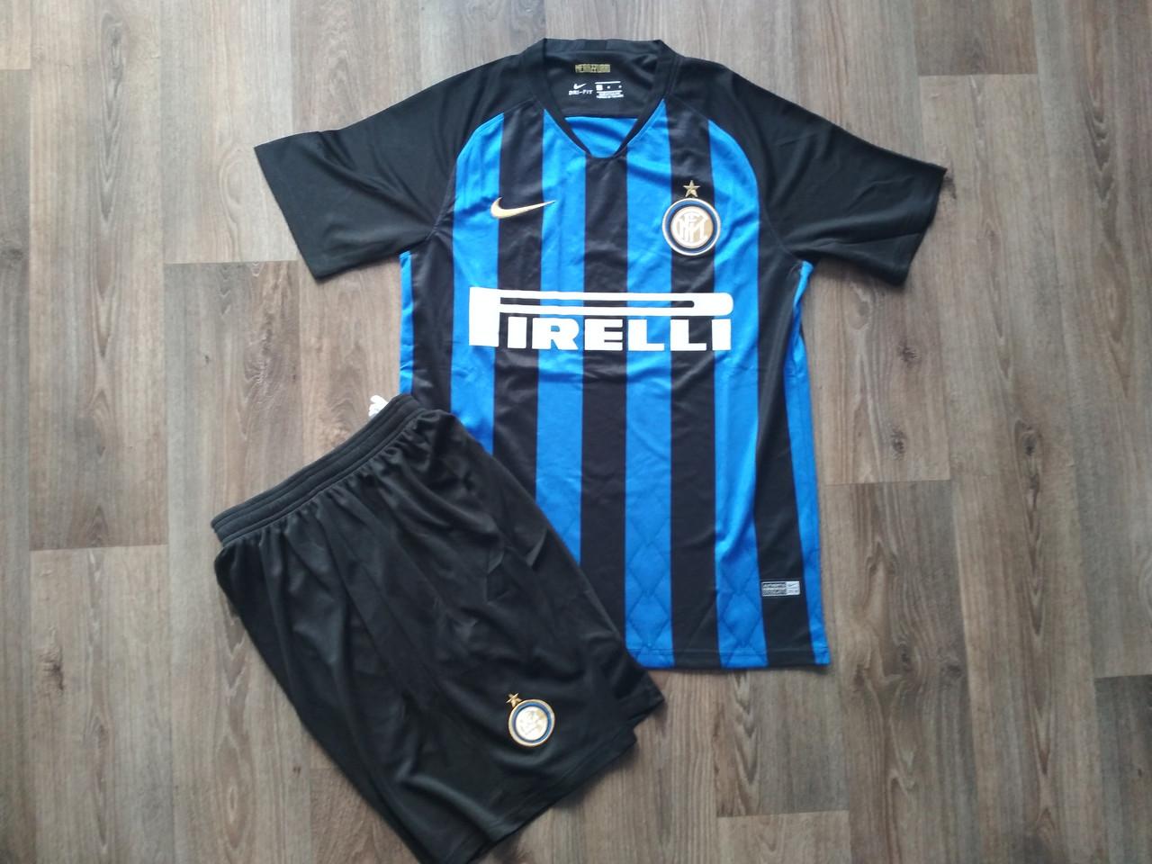 Футбольная форма Интер сезон 2018-2019 основная черно-синяя, S
