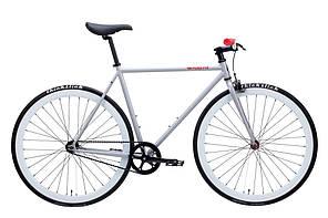 Велосипед Pure Fix Cycles Tango50 Сіра рама 50 см з білими колесами