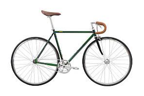 Велосипед Pure Fix Cycles Cleveland54 Зелена рама 54 см з cріблястими колесами