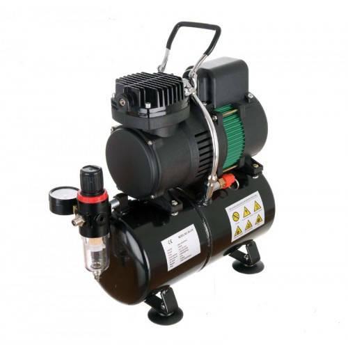Компрессор для аэрографа с ресивером c двойной термозащитой, FENGDA